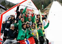 18.03.2012, Planica, Kranjska Gora, SLO, FIS Ski Sprung Weltcup,  im Bild Team NOR,   during the FIS Skijumping Worldcup, at Planica, Kranjska Gora, Slovenia on 2012/03/18. EXPA © 2012, PhotoCredit: EXPA/ Oskar Hoeher.