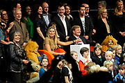 Prinses Maxima en prins Willem-Alexander verrichten woensdag de officiele opening van het 25e Cinekid festival in Amsterdam.n de Gashouder op het Westergasterrein in Amsterdam. <br />