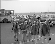 Olympic Team Leaves Dublin Airport.05/07/1976 for montreal competition
