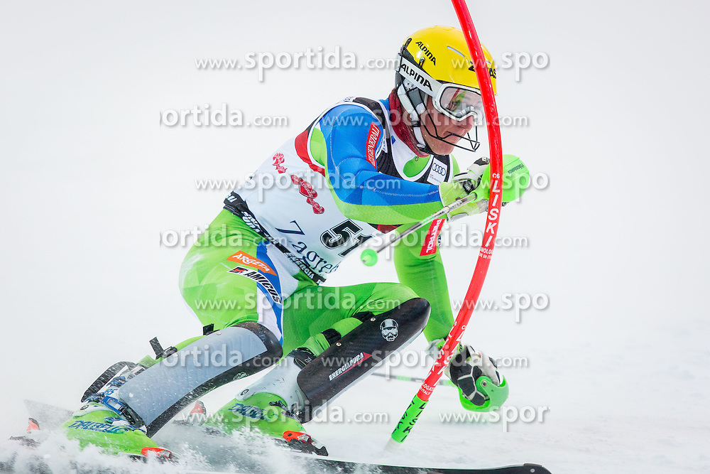 "Stefan Hadalin (SLO) during FIS Alpine Ski World Cup 2016/17 Men's Slalom race named ""Snow Queen Trophy 2017"", on January 5, 2017 in Course Crveni Spust at Sljeme hill, Zagreb, Croatia. Photo by Ziga Zupan / Sportida"