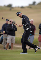 Marcel Siem reacts after coming close to a birdie on the 8th hole during day one of the Aberdeen Asset Management Scottish Open at Gullane Golf Club, East Lothian.