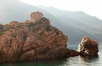 the sea in Corsica..
