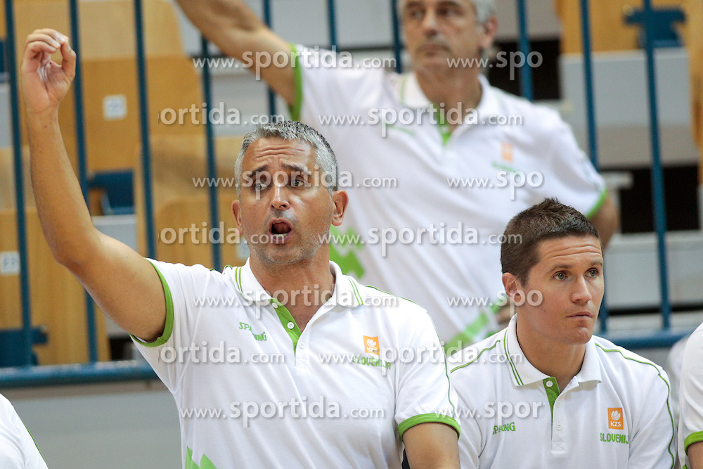 Igor Kokoskov, head coach of Slovenia and Jaka Lakovic, assistant coach of Slovenia during friendly basketball match between National teams of Slovenia and Belgium at day 2 of Adecco Cup 2016, on August 6 in Zlatorog, Celje, Slovenia. Photo by Matic Klansek Velej / Sportida