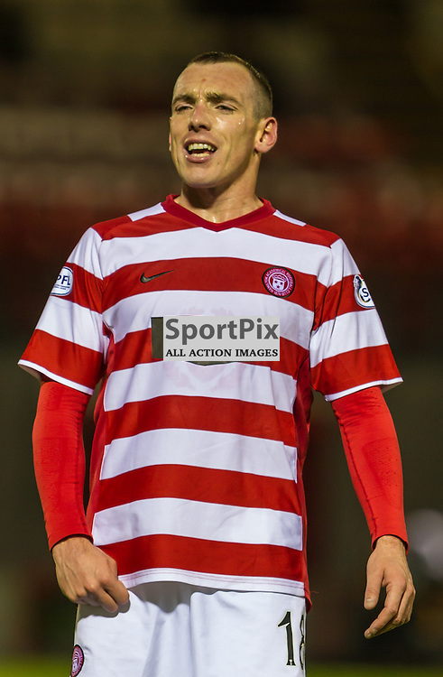 Darian McKinnon in action against Morton for Hamilton Accies (c) ROSS EAGLESHAM   SportPix.eu