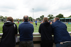 Bristol Rugby fans watch the players warm up before the game - Mandatory byline: Dougie Allward/JMP - 07966386802 - 10/10/2015 - RUGBY - Vallis Way -West Ealing,England - Ealing Trailfinders v Bristol Rugby - Greene King IPA Championship