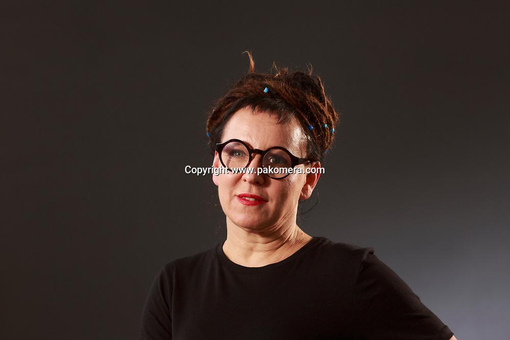 Edinburgh, Scotland 25th August. Day 14 Edinburgh International Book Festival. Pictured: Olga Tokarczuk critic, Polish writer. Pako Mera