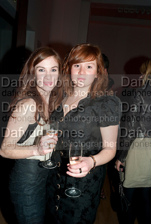 JULIA OLDFIELD; FRANCESCA OLDFIELD, TODÕS Art Plus Drama Party 2011. Whitechapel GalleryÕs annual fundraising party in partnership  with TODÕS and supported by HarperÕs Bazaar. Whitechapel Gallery. London. 24 March 2011. -DO NOT ARCHIVE-© Copyright Photograph by Dafydd Jones. 248 Clapham Rd. London SW9 0PZ. Tel 0207 820 0771. www.dafjones.com.<br /> JULIA OLDFIELD; FRANCESCA OLDFIELD, TOD'S Art Plus Drama Party 2011. Whitechapel Gallery's annual fundraising party in partnership  with TOD'S and supported by Harper's Bazaar. Whitechapel Gallery. London. 24 March 2011. -DO NOT ARCHIVE-© Copyright Photograph by Dafydd Jones. 248 Clapham Rd. London SW9 0PZ. Tel 0207 820 0771. www.dafjones.com.