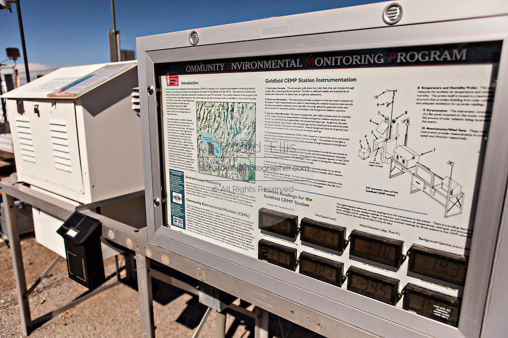Radiation detector in the former gold mining boomtown turned ghost town Goldfield, Nevada, USA