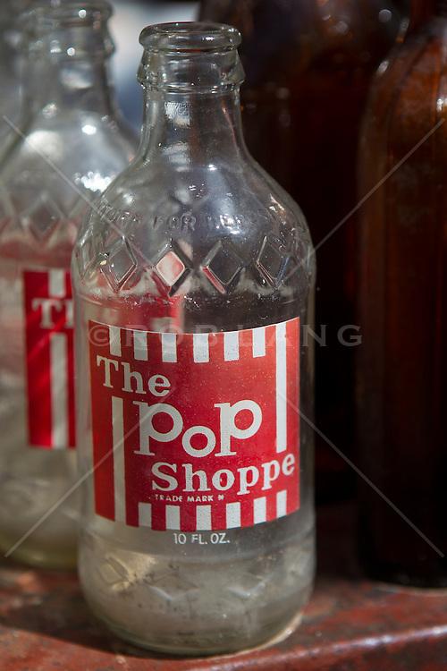 old glass Pop shoppe bottle