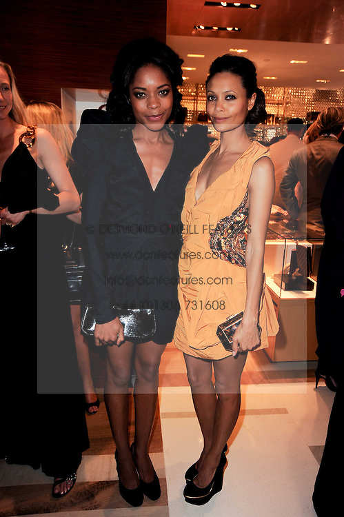 Left to right, NAOMI HARRIS and THANDIE NEWTON at a party to celebrate the opening of the Louis Vuitton Bond Street Maison, New Bond Street, London on 25th May 2010.
