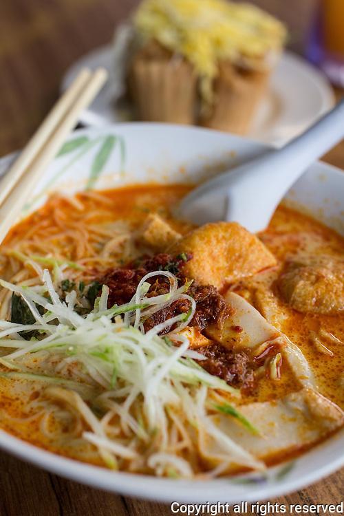 Malaccan Style nonya curry laksa, Malacca, Malaysia