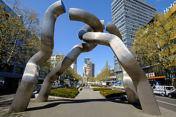 "Sculpture ""Berlin"" on   Kurfurstendamm, Kudamm, in Berlin Germany"
