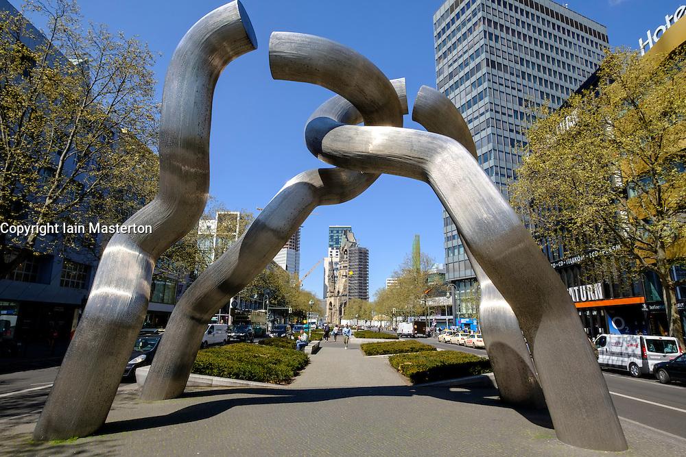 "Sculpture ""Berlin"" on   Kurfurstendamm, Kudamm, in Berlin Germany"