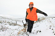 Late season youth antelope hunt in the snow.