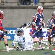 during the game at Harvard Stadium on April 27, 2014 in Boston, Massachusetts. (Photo by Elan Kawesch)