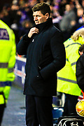 Rangers Manager Steven Gerrard during the William Hill Scottish Cup quarter final replay match between Rangers and Aberdeen at Ibrox, Glasgow, Scotland on 12 March 2019.