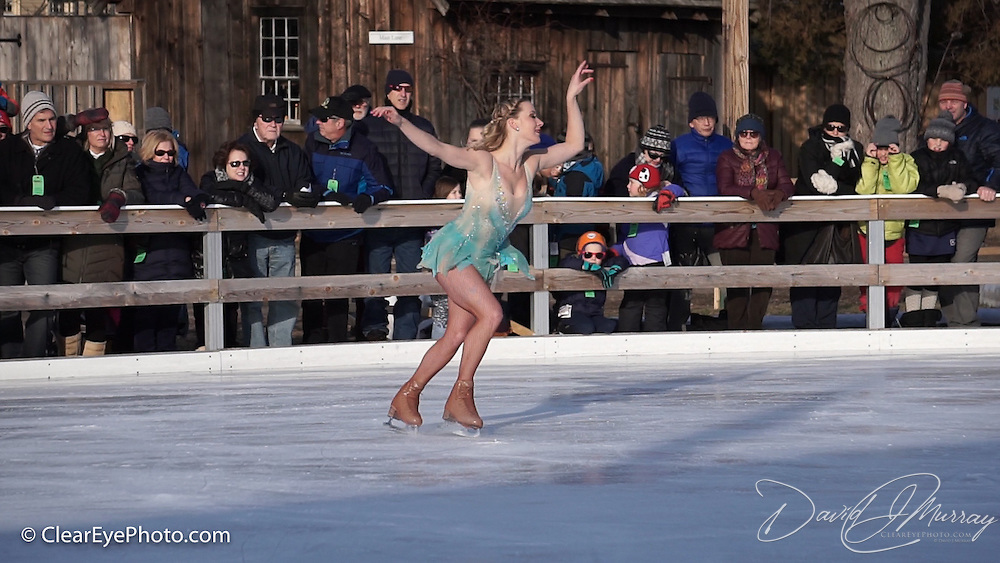 Laura Shelton performs with Ice Dance International at Strawbery Banke, Portsmouth NH on Jan 14, 2017
