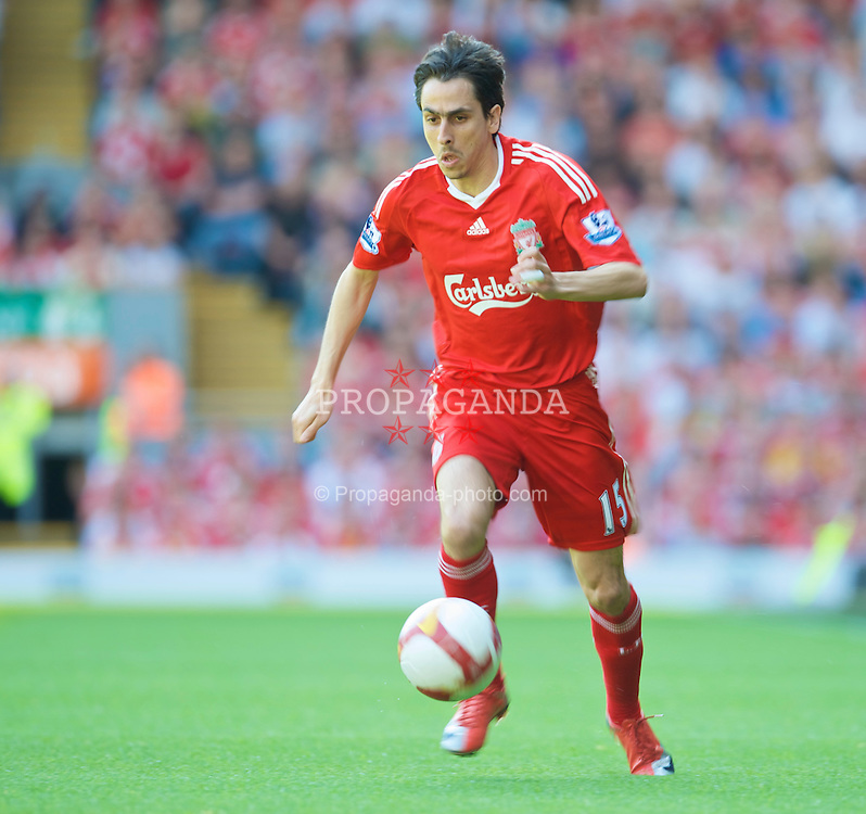 LIVERPOOL, ENGLAND - Sunday, May 24, 2009: Liverpool's Yossi Benayoun in action against Tottenham Hotspur during the Premiership match at Anfield. (Photo by: David Rawcliffe/Propaganda)