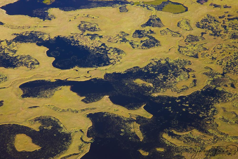 Aerial view of coastline of Katmai Peninsula, Katmai Peninsula, Alaska,USA