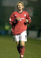 Photo Pete Downing<br />Crewe Alex V Sunderland.<br />Nationwide division one.<br /> 22/11/ 2003.<br />Steve Jones in action for Crewe<br /><br />Photo:Peter Downing (Freelance)<br />T:07931 594789<br />E:photopete1@hotmail.com