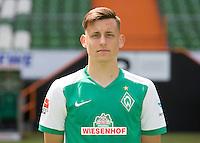 German Soccer Bundesliga 2015/16 - Photocall of Werder Bremen on 10 July 2015 in Bremen, Germany: Maximilian Eggestein