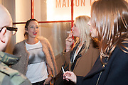 Maison Triumph launch to celebrate the beginning of London fashion week. Monmouth St. 14 February 2013.