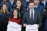 013120 Spanish Royals attends an Audience with the National Waterpolo Team