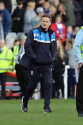 AFC Wimbledon Manager Neal Ardley during the Sky Bet League 2 match between Hartlepool United and AFC Wimbledon at Victoria Park, Hartlepool, England on 25 March 2016. Photo by Stuart Butcher.