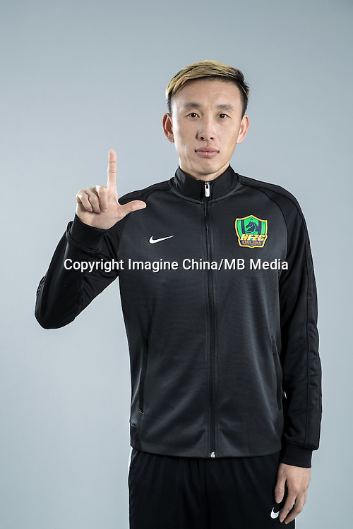 Portrait of Chinese soccer player Liang Yanfeng of Guizhou Hengfeng Zhicheng F.C. for the 2017 Chinese Football Association Super League, in Guiyang city, southwest China's Guizhou province, 23 February 2017.