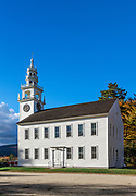 Traditional church, Jaffrey, New Hampshire, USA.
