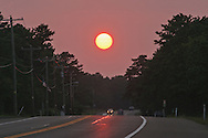 Hampton Bays, New York, Route 24, Sunset