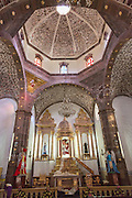 Interior of the Templo de San Juan de Dios church in the historic city of San Miguel de Allende, Mexico.