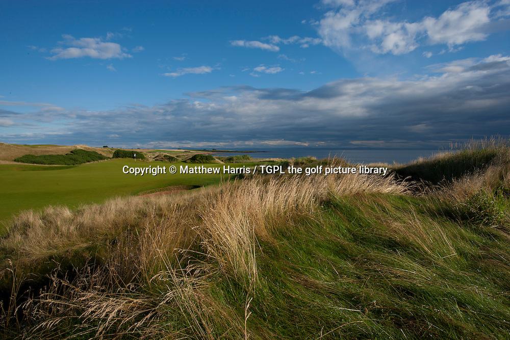 2nd par 3 at Kingsbarns Golf Links during summer ,Kingsbarns,Fife,Scotland.
