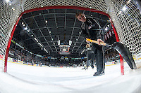 KELOWNA, CANADA - JANUARY 08: Brendan Hait clears the net on January 2, 2016 at Prospera Place in Kelowna, British Columbia, Canada.  (Photo by Marissa Baecker/Shoot the Breeze)  *** Local Caption *** Brendan Hait;