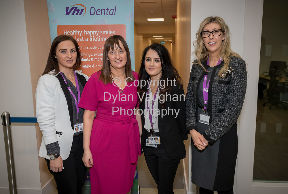 Repro Free No Charge for Repro<br /> <br /> 5-4-17<br /> <br /> CIPD South East Region/Vhi  WELLNESS IN THE WORKPLACE event<br /> Vhi hosted the CIPD South East Region &ldquo;Wellness in the Workplace&rdquo; event at their Purcellsinch offices on Wednesday 5th April 2017.  <br /> <br /> Pictured on the night were Aisling Connolly, Vhi Healthcare, Statia O&rsquo;Carroll, CIPD and Vhi Healthcare, Skaiste Vitkute, CIPD and Vhi Healthcare and Anne Marie Kirwan, Vhi Healthcare.<br />  <br /> The event, which was attended by representatives from over 70 Kilkenny / local companies, focused on the benefits that Wellness programmes can bring to businesses and highlighted ways that employees and organisations can work together to improve everyone&rsquo;s health and wellbeing.  Speakers outlined the need to take a strategic approach to introducing a healthy workplace and culture and highlighted the benefits that Wellness programmes can bring including improved employee engagement, increased performance and productive levels and decrease absenteeism.<br /> <br /> Picture Dylan Vaughan.