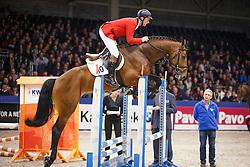 Lansink Jos (BEL) - F One USA<br /> KWPN Stallion Selection - 's Hertogenbosch 2014<br /> © Dirk Caremans