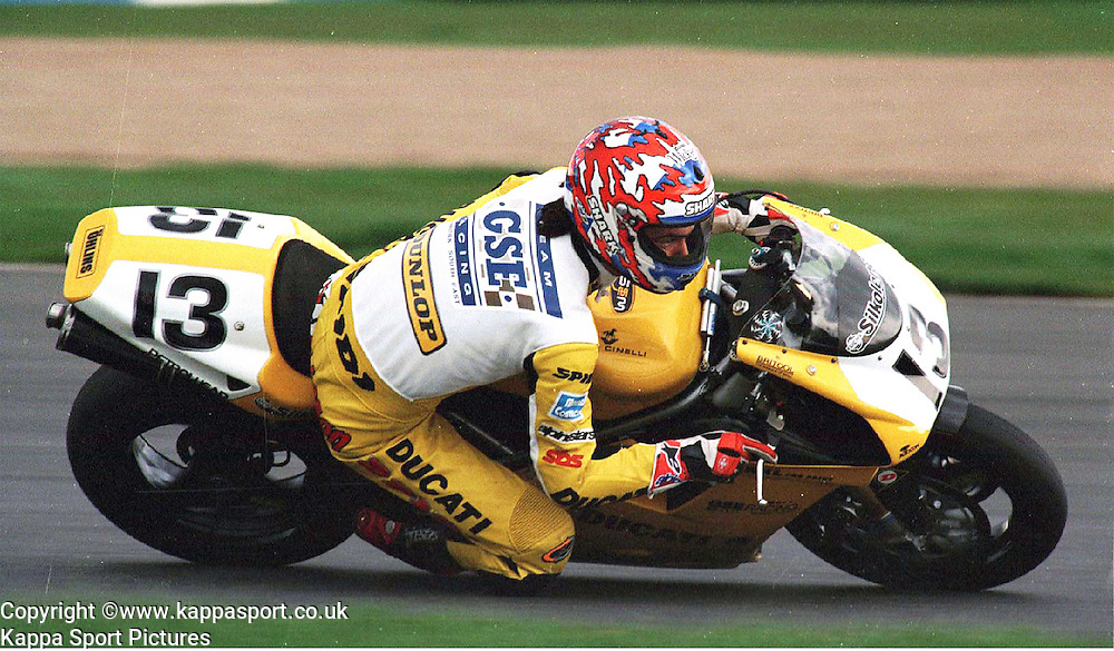 Jamie Robinson, GSE Ducati, World Superikes, Donington Park, 1998