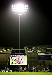 A general view during play at the AJ Stadium - Mandatory by-line: Matt McNulty/JMP - 16/09/2016 - RUGBY - Heywood Road Stadium - Sale, England - Sale Sharks v Gloucester Rugby - Aviva Premiership