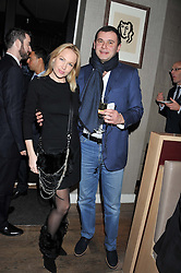 SEVA & SVETLANA KOPIEV attend the MARC Restaurants Truffle Dinner hosted by Marlon & Nadya Abela at Cassis, 232-236 Brompton Road, London on 13th February 2013.