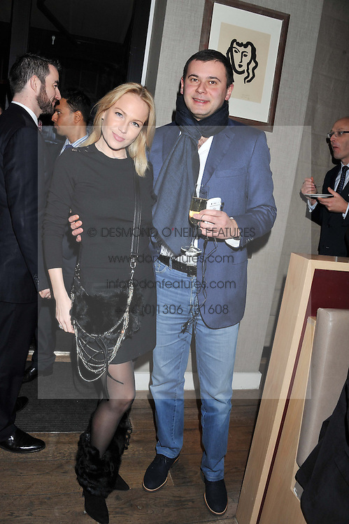 SEVA & SVETLANA KOPIEV attend the MARC Restaurants Truffle Dinner hosted by Marlon & Nadya Abela at Cassis, 232-236 Brompton Road, London on 13th February 2013.