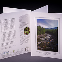 This scenic view of the East Branch of the Pemigewasset River is located along the Kancamagus Highway in the White Mountains of New Hampshire. <br /> <br /> Artemis Photo Greeting Cards featuring NH native flora and fauna and historic sites. The cards are made exclusively in NH made from 100% FSC recycled paper, manufactured with wind and water power, and are archival acid free paper. Each card includes details on the back about the image, including interesting anecdotes, historic facts, conservation status, and recipes.