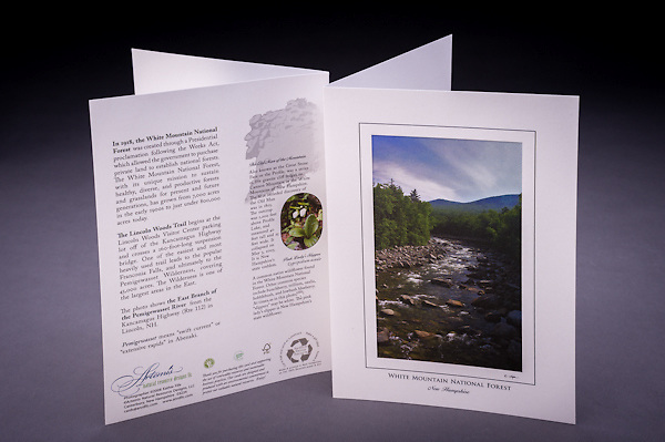 This scenic view of the East Branch of the Pemigewasset River is located along the Kancamagus Highway in the White Mountains of New Hampshire. <br />