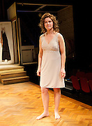 Frankie & Johnny <br /> in the Claire de Lune<br /> by Terrence McNally <br /> directed by Paulette Randall <br /> at the Minerva Theatre, Chichester, Great Britain <br /> press photocall<br /> 11th November 2014 <br /> <br /> Dervla Kirwan as Frankie<br /> <br /> <br /> Photograph by Elliott Franks <br /> Image licensed to Elliott Franks Photography Services