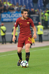 October 14, 2017 - Rome, Italy - Alessandro Florenzi during the Italian Serie A football match between A.S. Roma and S.S.C. Napoli at the Olympic Stadium in Rome, on october 14, 2017. (Credit Image: © Silvia Lor/Pacific Press via ZUMA Wire)