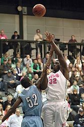 08 February 2014:  Victor Davis & Will Nixon during an NCAA mens division 3 CCIW basketball game between the Elmhurst Bluejays and the Illinois Wesleyan Titans in Shirk Center, Bloomington IL