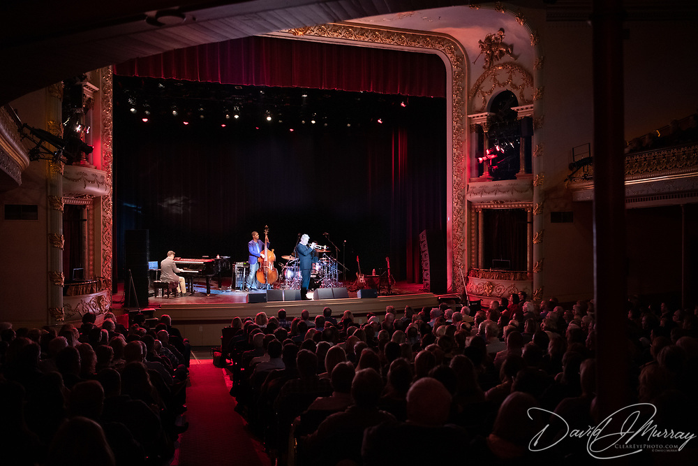 Taken at the Chris Botti show at The Music Hall in Portsmouth, NH. April 2019. Personnel: Chris Botti: Trumpet; Delaney Harter: Violin; Reggie Hamilton: Bass; Eldar Djangirov: Keyboards; Shayna Steele: Vocals; Leonardo Amuedo: Guitar; Lee Pearson: Drums; <br />