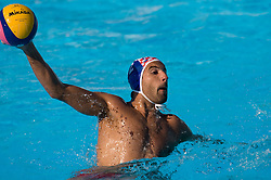 Damir Buric of Croatia during waterpolo Semifinal Round match between National teams of Croatia and Serbia during the 13th FINA World Championships Roma 2009, on July 30, 2009, at the Stadio del Nuoto,  Foro Italico, Rome, Italy. Serbia won 12:11. (Photo by Vid Ponikvar / Sportida)