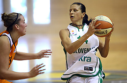 Daliborka Jokic at basketball qualification match of women division B  between National teams of Slovenia and Netherlands, on August 27, 2008, in Vitranc Hall, Kranjska Gora. Win of NED 83:81. (Photo by Vid Ponikvar / Sportida)