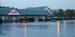 Flooding at Oban's retail park and surrounding areas have led to widespread disruption in the town this morning with many cars stranded and abandoned in the floods......... (c) Stephen Lawson   Edinburgh Elite media