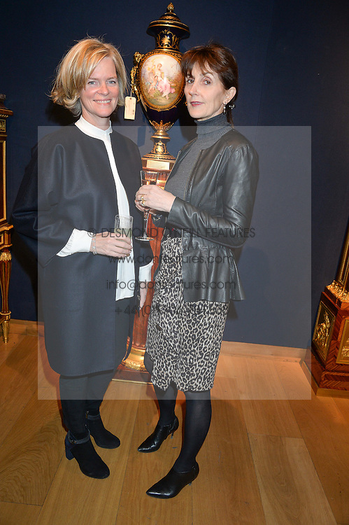 Left to right, LADY BRUCE DUNDAS and CAROLYN HADDEN-PATON at a party to celebrate the publication of Interiors For Living by Joanna Wood held at Christie's. 8 King Street, St.James's, London on 2nd March 2015.